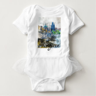 Scenic Prague in the Czech Republic Baby Bodysuit