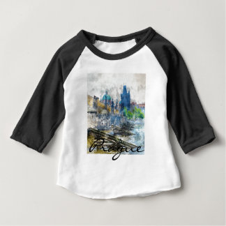 Scenic Prague in the Czech Republic Baby T-Shirt