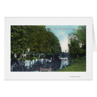 Scenic River with Canoe SceneEugene, OR Card