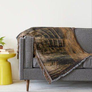 Scenic Rustic Fence in the Country Throw Blanket