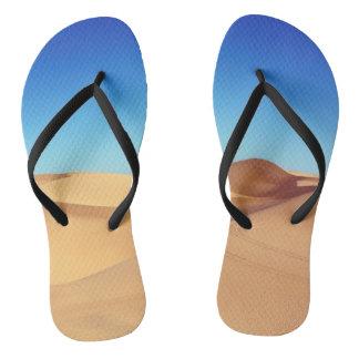 Scenic Sahara sand desert nature landscape Flip Flops