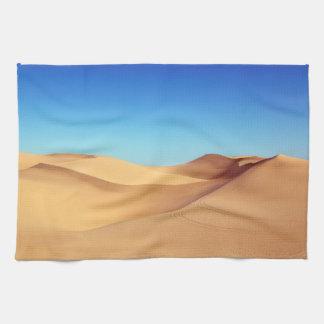 Scenic Sahara sand desert nature landscape Kitchen Towel