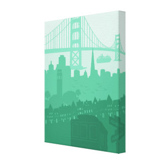 Scenic San Francisco City Art Home Decor Gift Canvas Print
