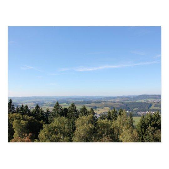 Scenic Sauerland View from Wilzenberg Postcard
