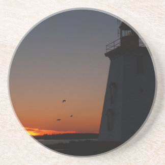 Scenic Series---Lighthouse Silhouette Beverage Coasters