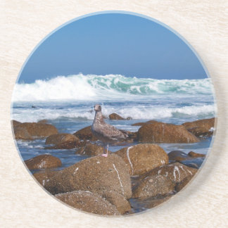 Scenic Series---Seagull on the Rocks Beverage Coaster
