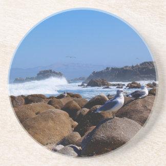 Scenic Series---Seagulls on the Rocks Beverage Coaster