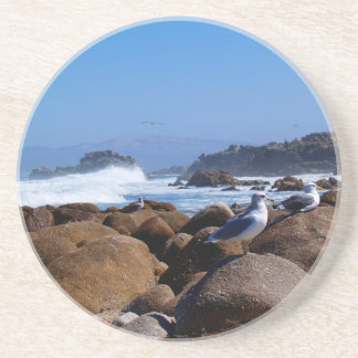 Scenic Series---Seagulls on the Rocks Drink Coaster