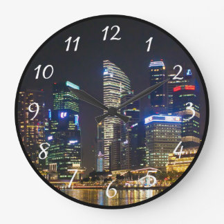 Scenic Singapore Skyline Clock