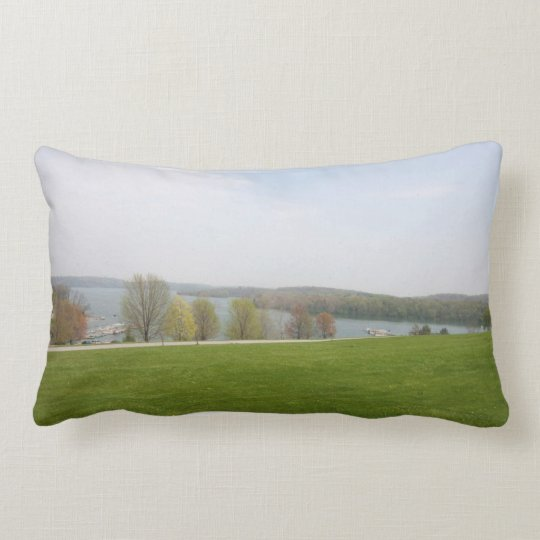 Scenic throw pillow