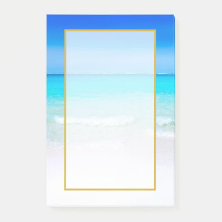 Scenic Tropical Beach with a Turquoise Sea Post-it Notes