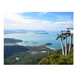 Scenic View Langkawi Cable Car Travel Souvenir Postcard