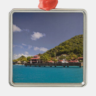 Scenic view of Bitter End Yacht Club Virgin Silver-Colored Square Ornament