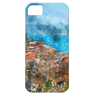 Scenic view of colorful village Vernazza and ocean Case For The iPhone 5