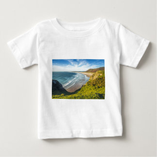 Scenic View of Landscape Against Sky Baby T-Shirt
