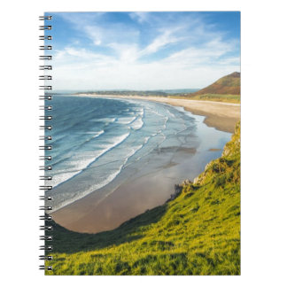 Scenic View of Landscape Against Sky Spiral Notebook