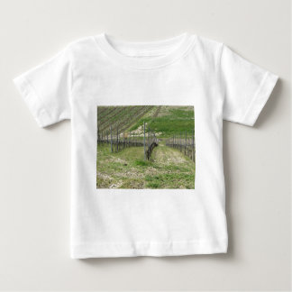Scenic view of rolling hillside with vineyards baby T-Shirt