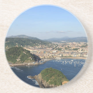 Scenic view of San Sebastian Drink Coasters