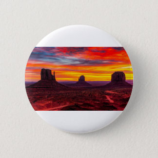 Scenic View of Sunset over Sea 2 Inch Round Button