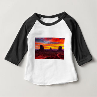 Scenic View of Sunset over Sea Baby T-Shirt