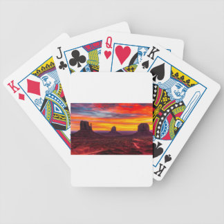 Scenic View of Sunset over Sea Bicycle Playing Cards