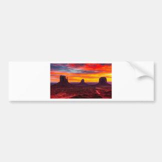 Scenic View of Sunset over Sea Bumper Sticker