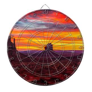 Scenic View of Sunset over Sea Dartboard