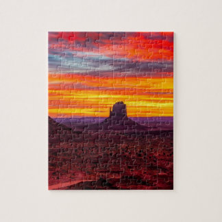 Scenic View of Sunset over Sea Jigsaw Puzzle