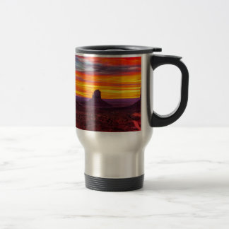 Scenic View of Sunset over Sea Travel Mug