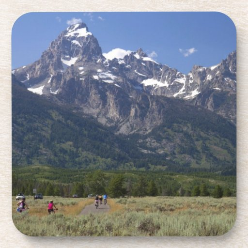 Scenic view of the Teton Range Drink Coasters