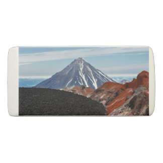 Scenic view of the volcanoes landscape eraser