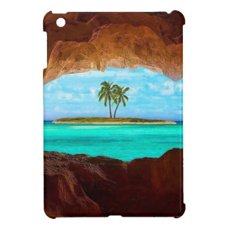 Scenic water and palm trees case for the iPad mini