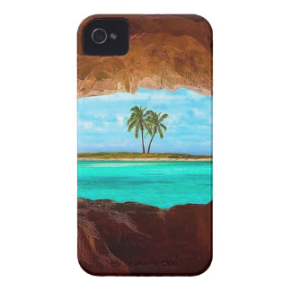 Scenic water and palm trees iPhone 4 case