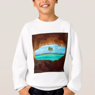 Scenic water and palm trees sweatshirt