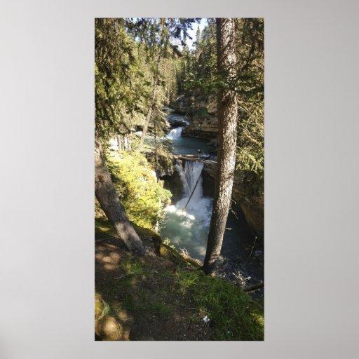 Scenic Waterfall Poster