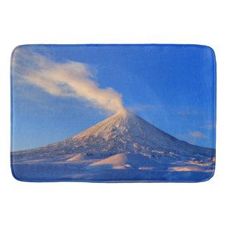 Scenic winter volcanic landscape bath mat
