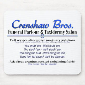 Scented Embalming Fluids Mouse Pad