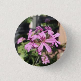 Scented Geranium Bloom 1 Inch Round Button