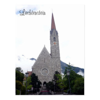 schaan church postcard