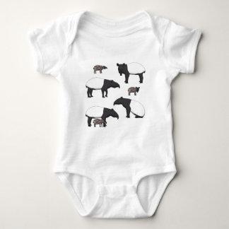 Schabrackentapir selection baby bodysuit