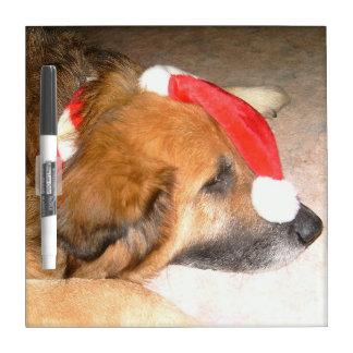 Schäferhund Mischling lustige Weihnachten Nikolaus Whiteboards