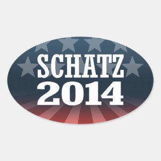 SCHATZ 2014 OVAL STICKER