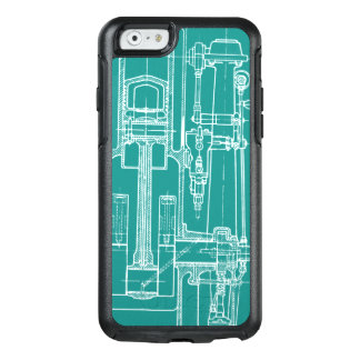 Schematic Drawing Old blueprint rustic colors soft OtterBox iPhone 6/6s Case