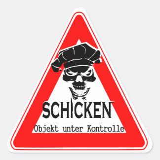 schicken triangle sticker