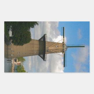 Schiedam, windmill rectangular sticker