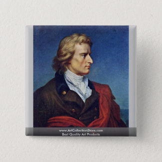 Schiller Died In 1805 2 Inch Square Button