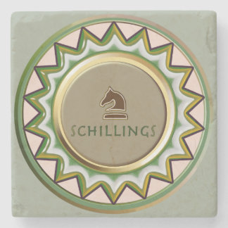 Schilling Horse/ knight Chess piece coaster