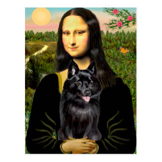 Schipperke 7 - Mona Lisa Postcard