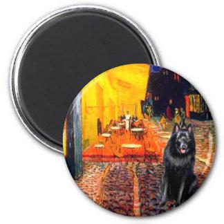 Schipperke 7 - Terrace Cafe 2 Inch Round Magnet