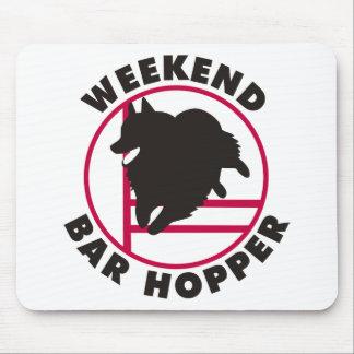 Schipperke Agility Weekend Bar Hopper Mouse Pad